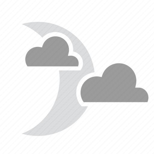 Cloud, moon, night, overcast icon - Download on Iconfinder