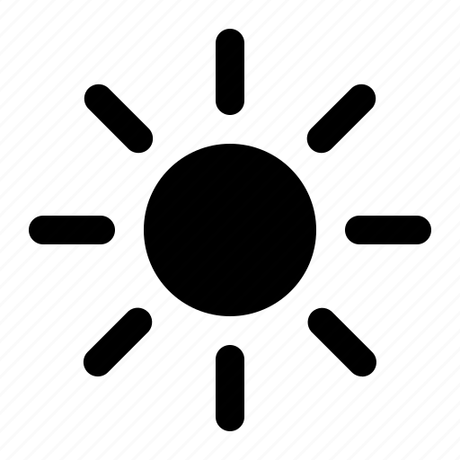 brightnes, summer, sun, sunny, warm, weather icon