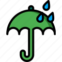 rain, umberlla, weather icon