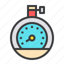 air, barometer, device, gauge, measure, meteorology, pressure icon