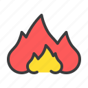 burn, fire, flame, heat, warm icon