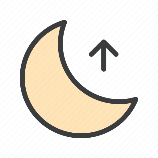 higher, moon, night, rise icon