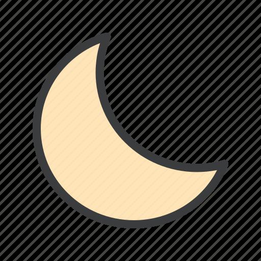 crescent, moon, night, sky icon