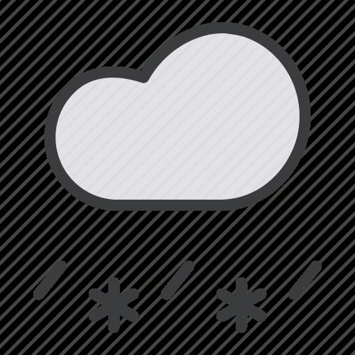 cloud, forecast, rain, sleet, snow, snowfall, weather icon
