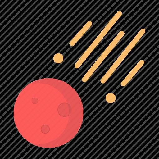 asteroid, comet, cosmos, meteor, rock, space icon