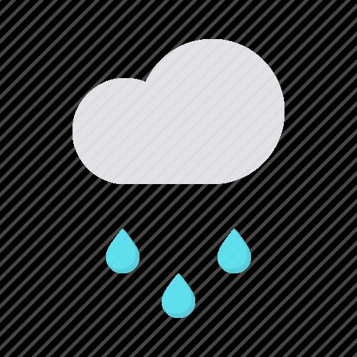 cloud, drizzle, forecast, rain, rainfall, weather icon