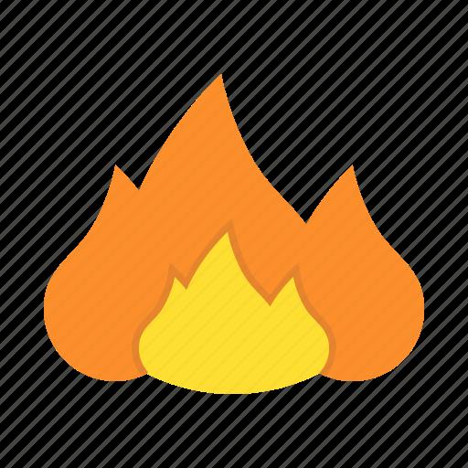 burn, fire, flame, heat, warm icon