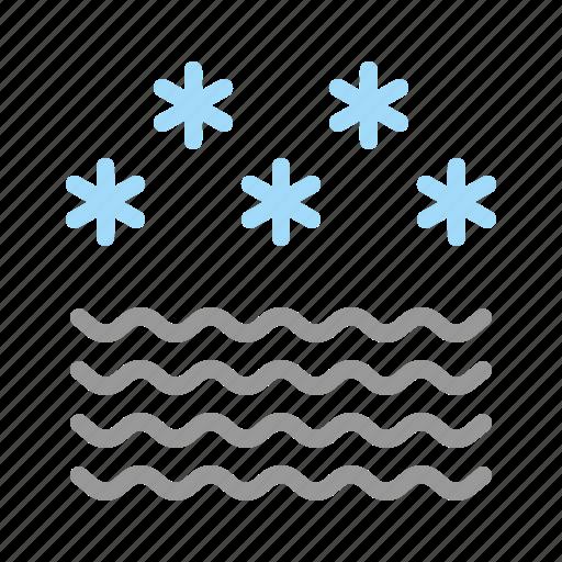 fog, foggy, frost, mist, snow, star, wave icon