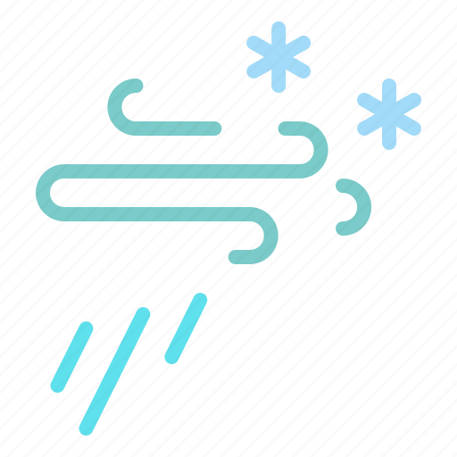 forecast, snow, snowfall, storm, weather, wind, windy icon