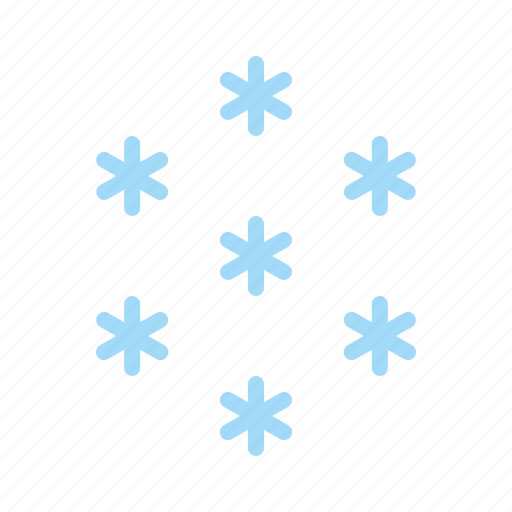 cold, forecast, snow, snowfall, snowflake, star, weather icon