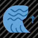 calamity, disaster, natural, ocean, sea, tsunami, wave icon
