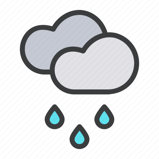 cloud, clouds, drizzle, drops, forecast, rain, rainfall icon