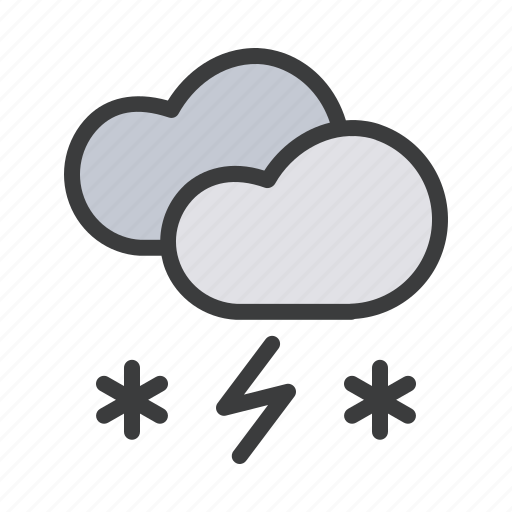 cloud, clouds, forecast, heavy, snow, snowfall, storm icon