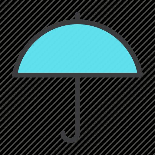 protection, rain, summer, sun, sunny, umbrella icon