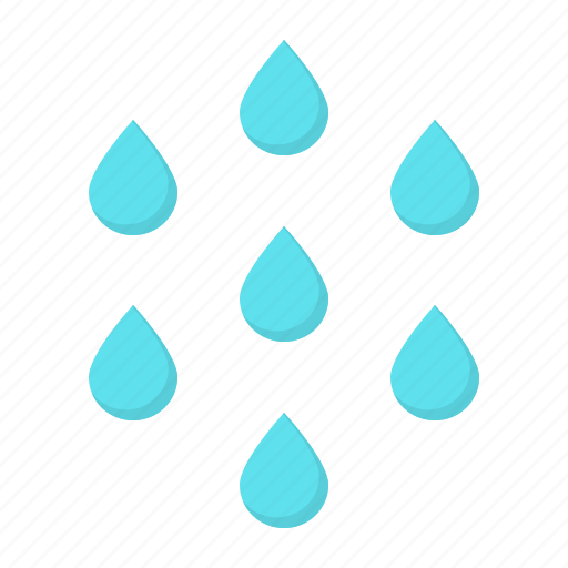 drizzle, drop, droplet, drops, rain, water icon