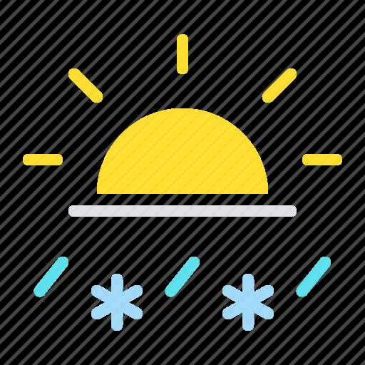 day, daytime, rain, rainfall, sleet, snow, sun icon