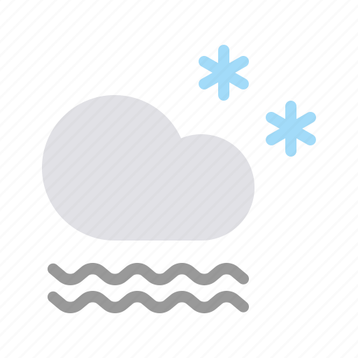 cloud, cloudy, fog, forecast, frost, mist, snow icon