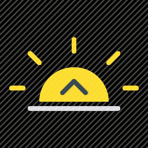 dawn, forecast, morning, rise, sun icon