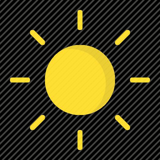 day, forecast, heat, summer, sun, sunny, weather icon