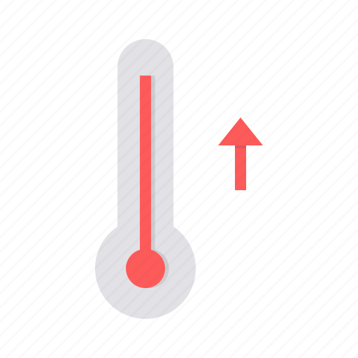 high, higher, hot, increase, temperature, thermometer icon