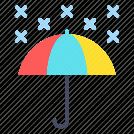 forecast, snow, snowfall, umbrella, weather, winter icon
