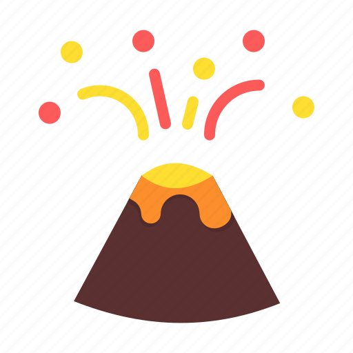 active, erupt, eruption, lava, mountain, volcano icon