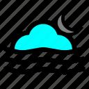 cloud, moon, weather, wind