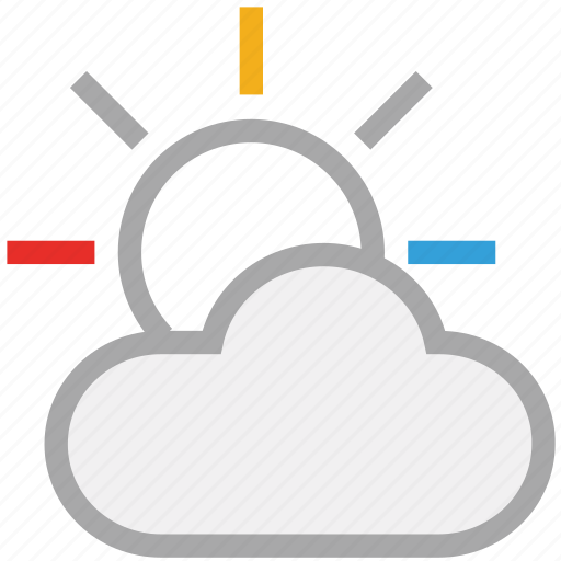 cloud, day, forecast, sun, weather icon