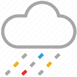 clouds, forecast, rain, weather icon