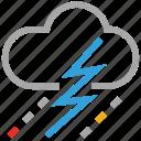 clouds, raining, storm, thunder, forecast, lightning, weather