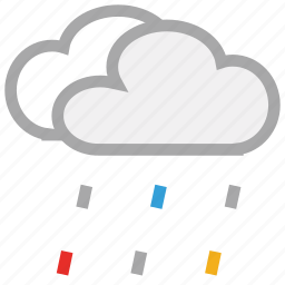 clouds, forecast, rain, storm, weather icon
