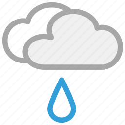 clouds, forecast, rain, rain drop, weather icon