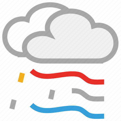clouds, forecast, raining, storm, weather icon