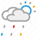 cloud, forecast, rain, sun, weather icon