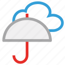 protection, umbrella, weather, cloud, forecast, rain