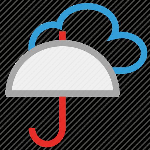 cloud, forecast, protection, rain, umbrella, weather icon