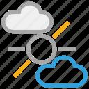clouds, forecast, sun, weather
