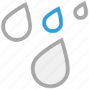 drops, forecast, rain, weather icon