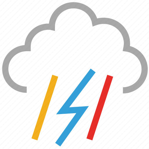 forecast, lightning, rain, storm, thunder, thunderstorm, weather icon