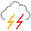 forecast, lightning, storm, thunder, thunderstorm, weather icon