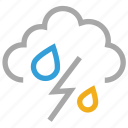 forecast, rain, storm, thunder, thunderstorm, weather icon