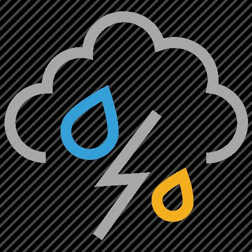 forecast, rain, storm, thunder, thunderstorm, weather icon