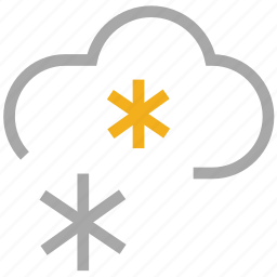 cloud, flurries, forecast, snow, snowfall, weather icon