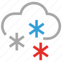 cloud, flurries, forecast, sleet, snowfall, weather icon