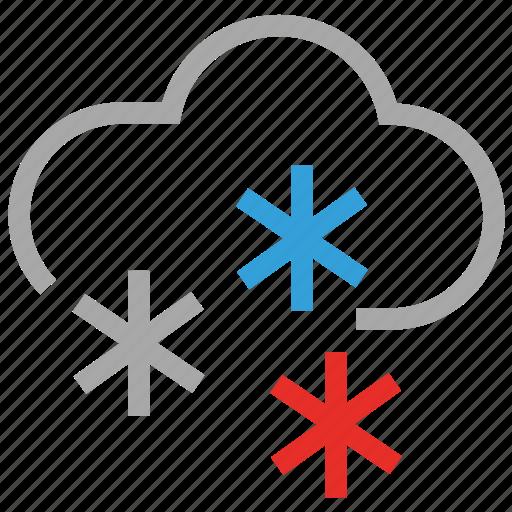 cloud, flurries, forecast, sleet, snowfall, weather icon