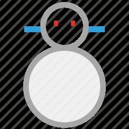 forecast, snowman, weather, winter icon
