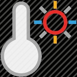 forecast, hot, sunny, temperature, weather icon