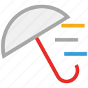 forecast, protection, storm, umbrella, weather icon