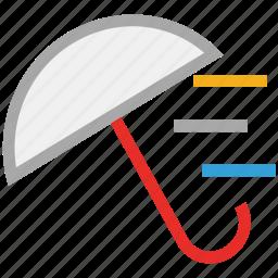 forecast, protection, storm, umbrella, weather icon
