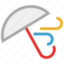 protection, umbrella, weather, wind icon